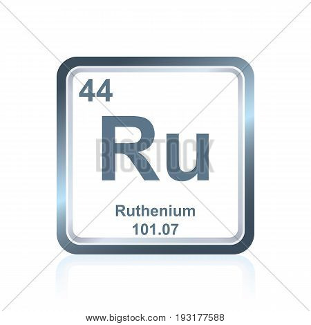 Chemical Element Ruthenium From The Periodic Table