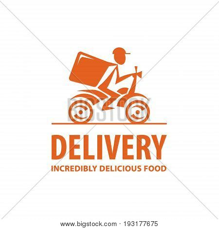 Fast and free delivery. Vector cartoon illustration. Bike. Icon logo design elements
