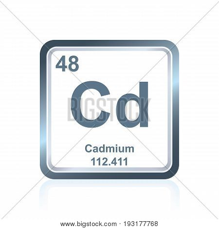 Chemical Element Cadmium From The Periodic Table