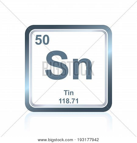 Chemical Element Tin From The Periodic Table