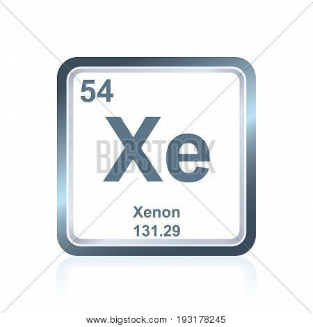 Chemical Element Xenon From The Periodic Table
