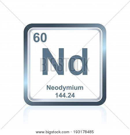 Chemical Element Neodymium From The Periodic Table