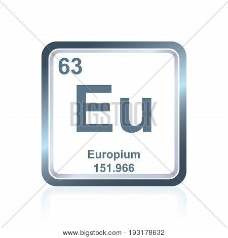 Chemical Element Europium From The Periodic Table