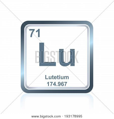Chemical Element Lutetium From The Periodic Table