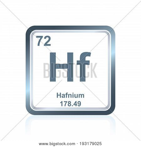 Chemical Element Hafnium From The Periodic Table