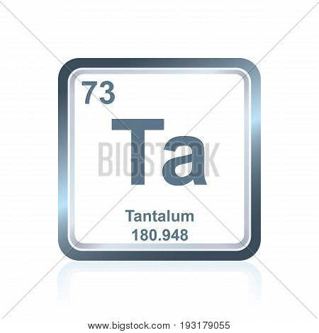 Chemical Element Tantalum From The Periodic Table