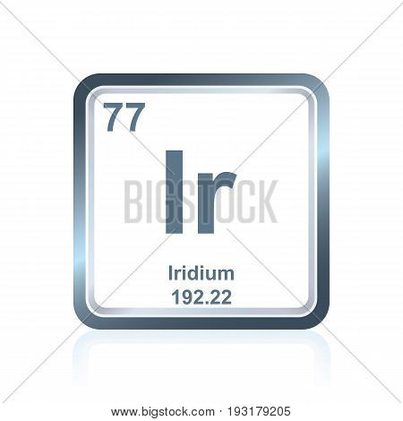 Chemical Element Iridium From The Periodic Table