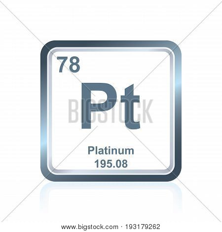 Chemical Element Platinum From The Periodic Table