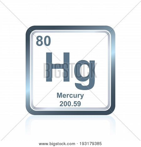 Chemical Element Mercury From The Periodic Table