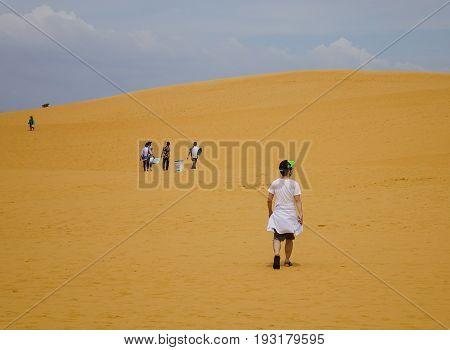 Red Sand Dunes In Mui Ne, Vietnam