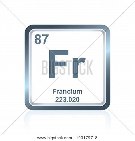 Chemical Element Francium From The Periodic Table