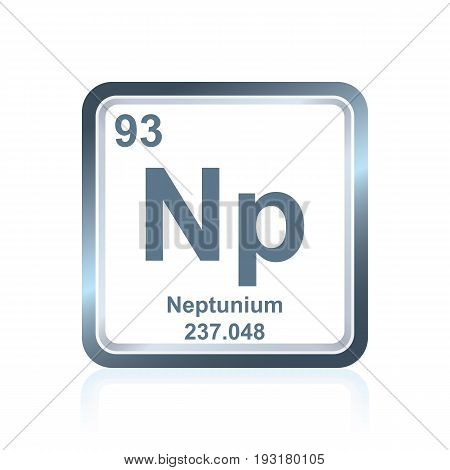 Chemical Element Neptunium From The Periodic Table