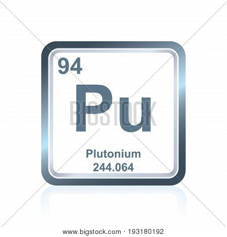 Chemical Element Plutonium From The Periodic Table