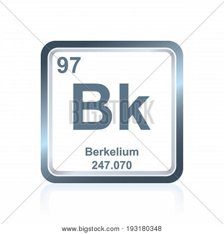 Chemical Element Berkelium From The Periodic Table