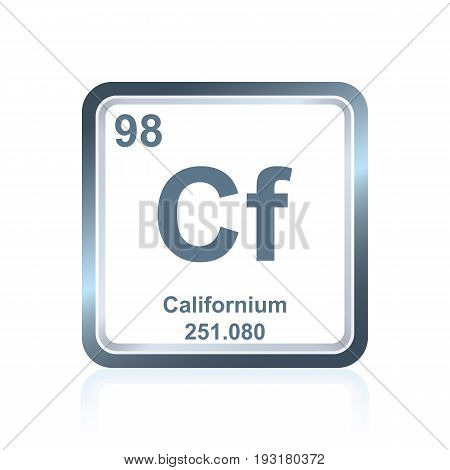 Chemical Element Californium From The Periodic Table