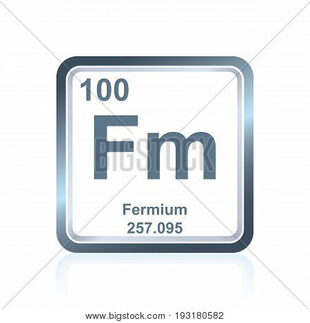 Chemical Element Fermium From The Periodic Table