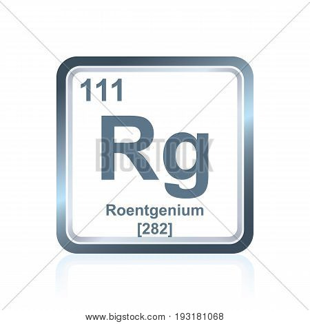 Chemical Element Roentgenium From The Periodic Table