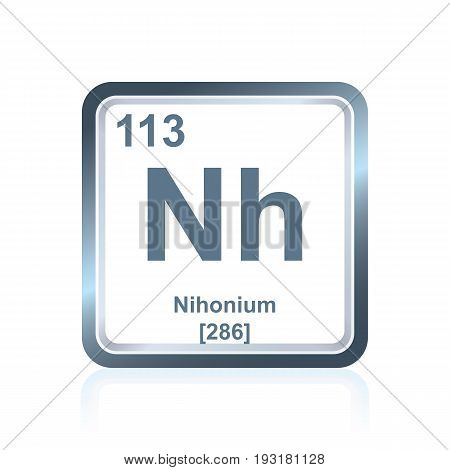 Chemical Element Nihonium From The Periodic Table