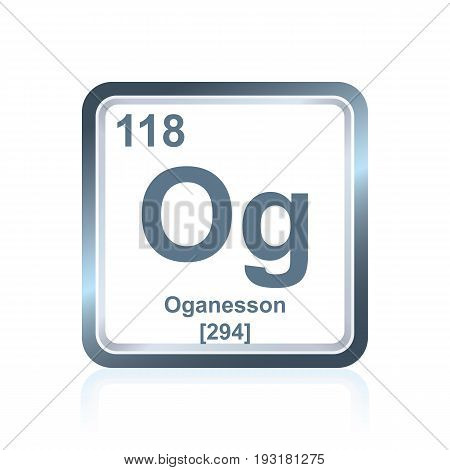 Chemical Element Oganesson From The Periodic Table