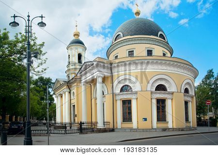 Moscow Russia - May 27 2017: The Church of the consolation of all the afflicted in Bolshaya Ordynka street in Moscow