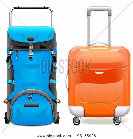 Vector Travel Bags isolated on white background