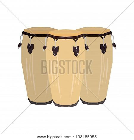 Isolated group of geometric conga drums, Vector illustration