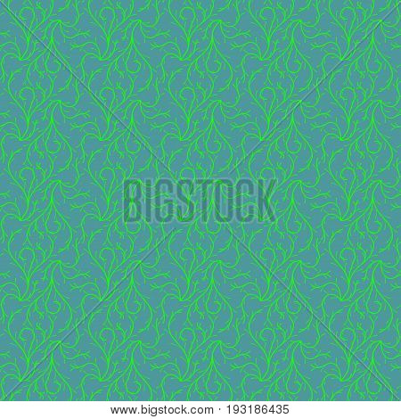Ivy On Green Background Seamless Patterns