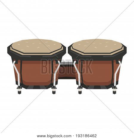 Isolated geometric bongo drums on a white background, Vector illustration