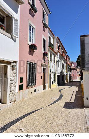 Street In Cascais Portugal