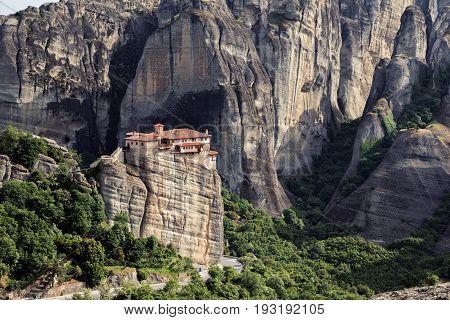 Meteora Greece Rock Formation Landscape