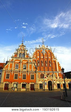 House Of The Blackheads In Riga, Latvia
