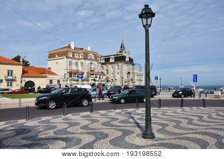 Little Square In Cascais Portugal