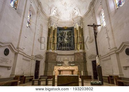Interiors Of Basilica Sanctuary Of Fatima, Portugal
