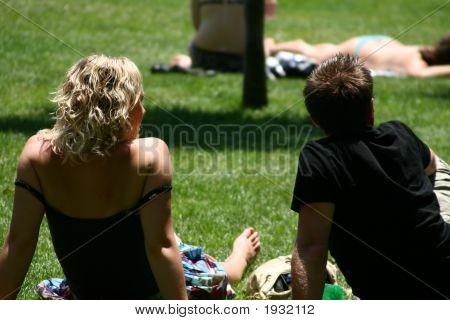 Sunbathing In Madrid