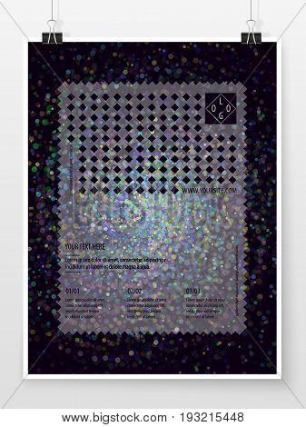 Poster Design Banner Template Business Concept Bokeh Sparkles 2