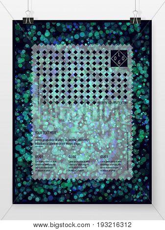 Poster Design Banner Template Business Concept Bokeh Sparkles 4