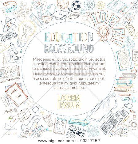 Vector Doodles Education Background.