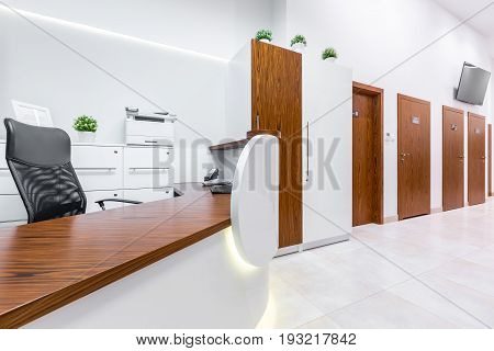 Reception Desk At The Clinic