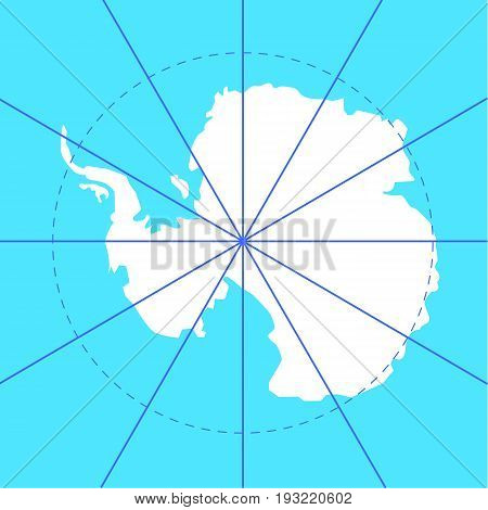 antarctic south pole map antarctica land set