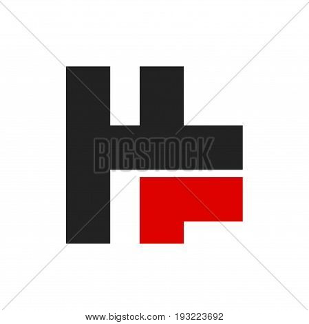 hf letter logo design, abstract hf logo design