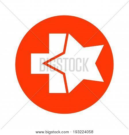 star with plus logo design, star logo design, medical logo design