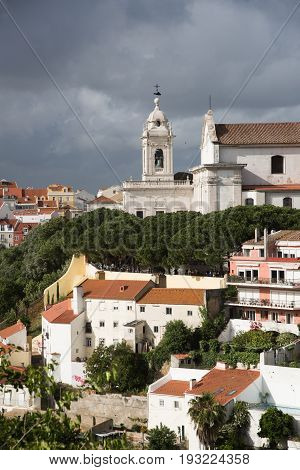 Lisbon View With Bell Tower