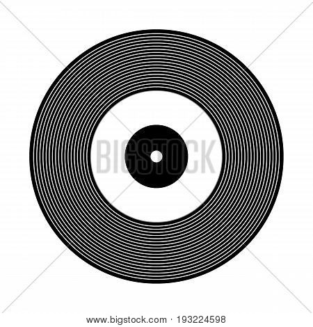 Vinyl record icon on white background. Vector illustration.