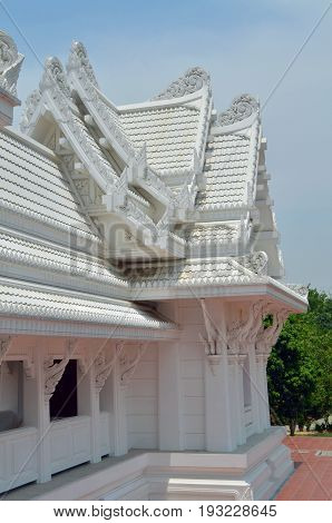 fragment of Thai Temple in Lumbini, Nepal - birthplace of Buddha Siddhartha Gautama.