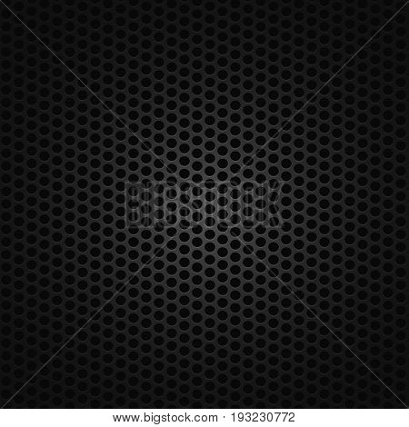 Black seamless background pattern with circles. EPS 8