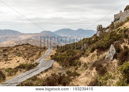 Boardwalk on Trail at Torc Mountain in Killarney National Park