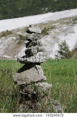 Pile Of Stones Like Symbol Of Prayer