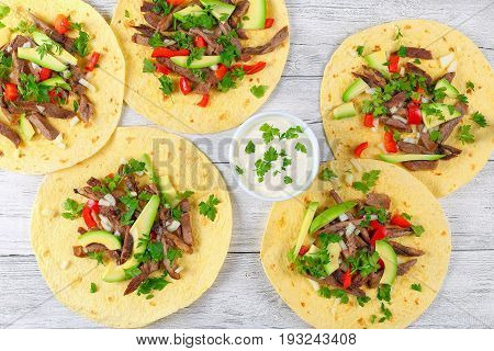 Fajitas Lengua Of Grilled Beef Tongue