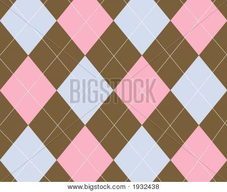 Brown Pink Blue Argyle Background