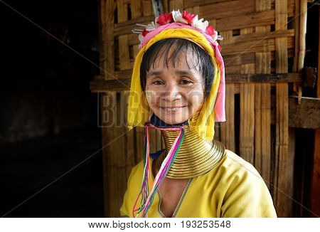 Long Neck Karen Woman Smile